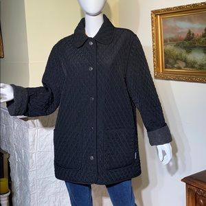 London Fog Reversible Quilted Field Jacket